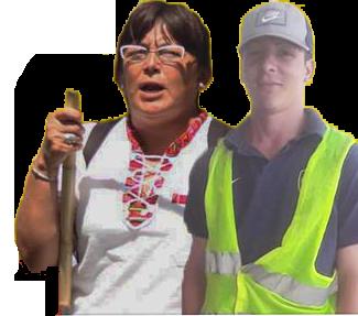 Viviana Toros y Maxi Torres