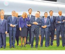 Los líderes de la Organización del Tratado del Atlántico Norte en la cumbre realizada en Gales